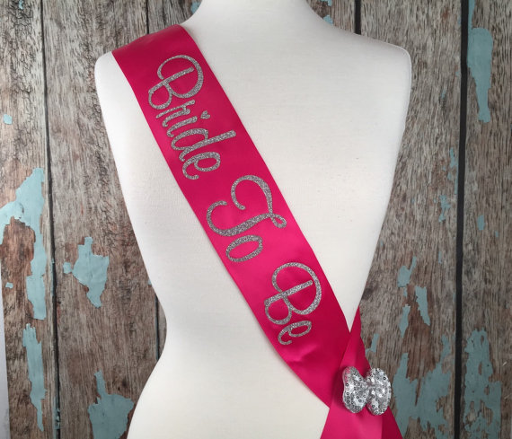 Wedding - Glitter Sash, Many Colors, Custom Bridal Sash, MANY Colors,  Bachelorette Sash, Bride to Be Sash