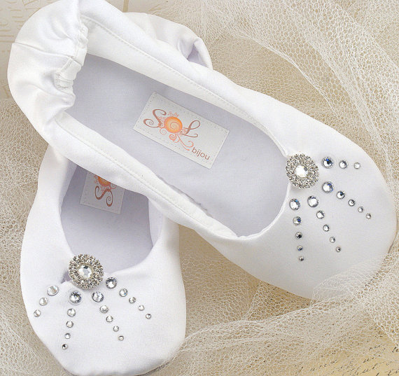 Bridal Ballet Slipper Shoes - Decorated Bridal Ballet Flats Whether you want a cute, comfortable getting ready look or prefer to sashay down the aisle in comfy shoes, our sweet wedding slippers are the perfect solution.