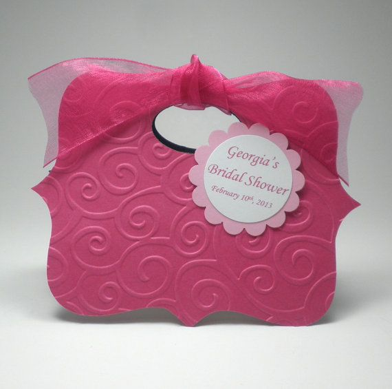 زفاف - Hot Pink Bridal Shower Favor Bag Box