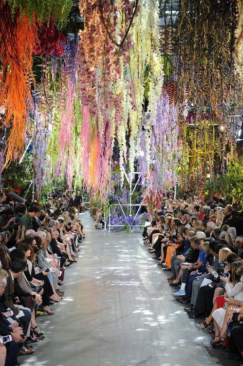 Wedding - The Amazing Floral Display At Yesterday's Dior Show