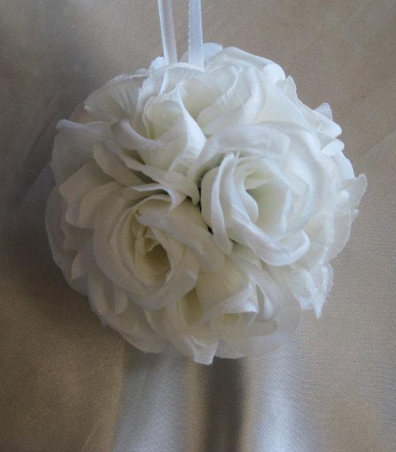"""Hochzeit - CLEARANCE Bridal White  Pomander 7""""- Wedding"""