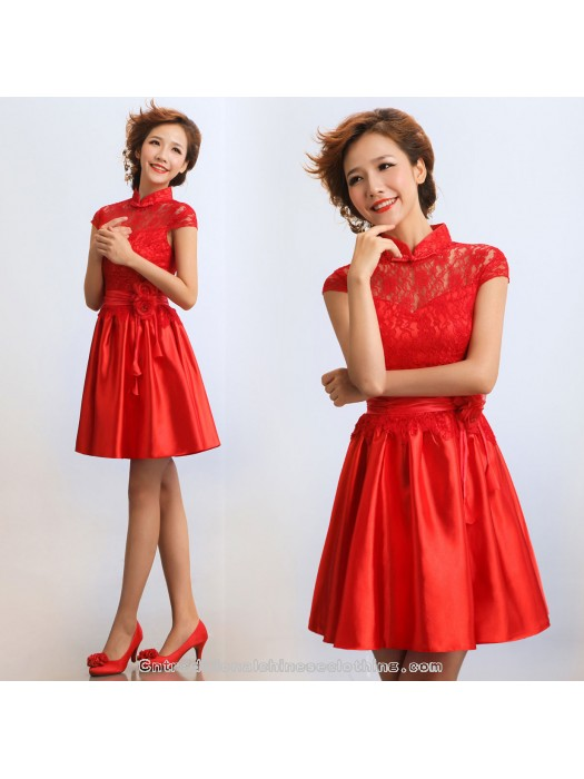 Mariage - summer red short prom dress