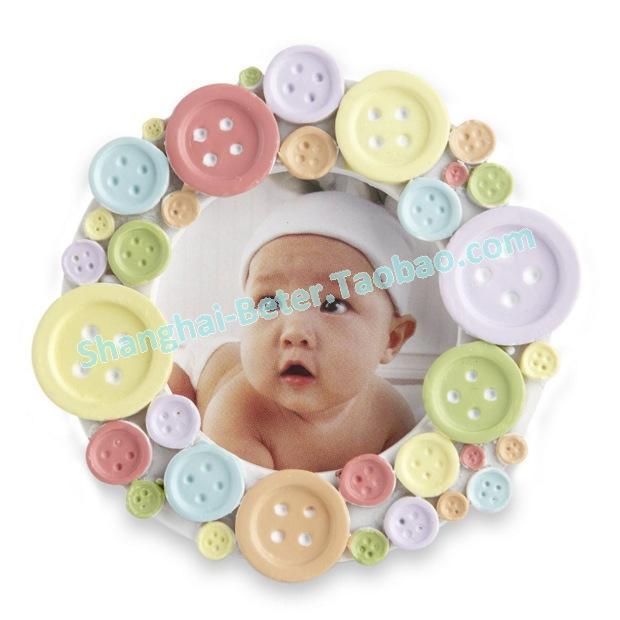 "Boda - ""Cute as a Button"" Round Photo Frame"