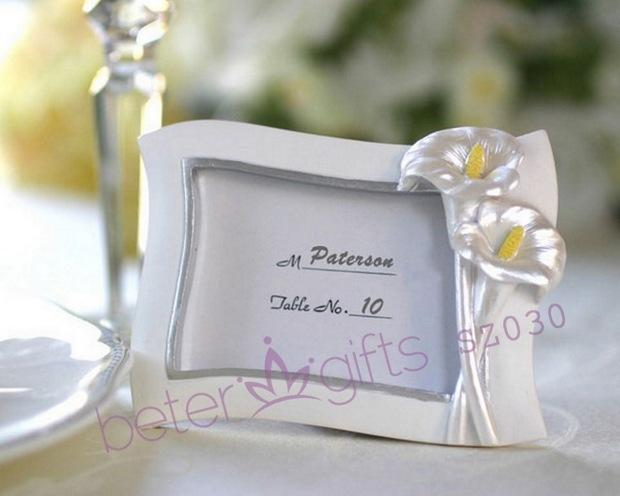 زفاف - Swaying Calla Lily Pearlescent Place Card/ Photo Frame SZ030@BeterWedding