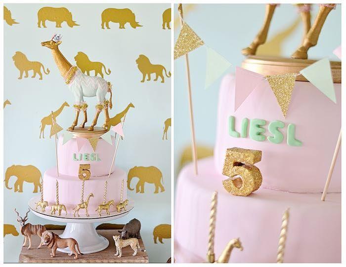 Hochzeit - Vintage Pastel Wild Safari Birthday Party