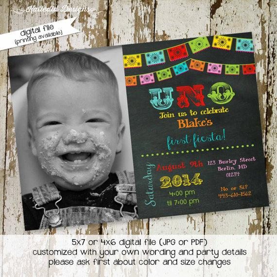 Fiesta birthday invitation mexican fiesta uno papel picado fiesta birthday invitation mexican fiesta uno papel picado chalkboard first birthday bash gender neutral item 234 shabby chic invitation filmwisefo