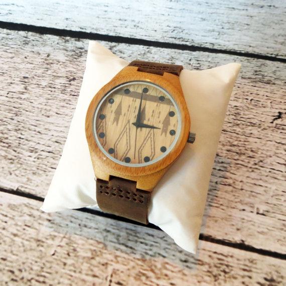 Wooden Wrist Watch Personalized Groomsmen Gift Accessories For Men