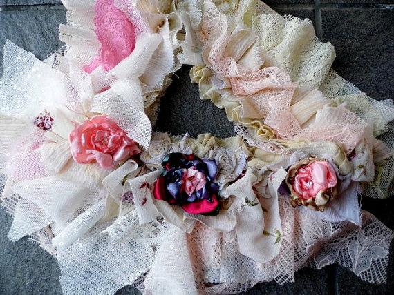 Свадьба - sash, belt,shabby chic, cottage, jane austen, bridal sash, floral sash, victorian,wedding, faery,lace sash, belt, tatterpunk,dance diva love