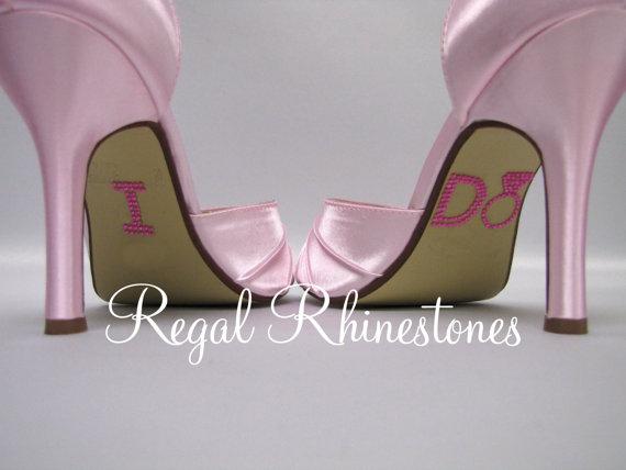 Свадьба - Hot Pink Big Diamond Ring Rhinestone I Do Wedding Shoe Stickers - Rhinestone I Do Shoe Stickers for your Bridal Shoes