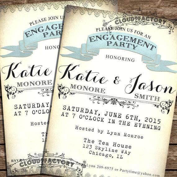 زفاف - Printable Engagement Party Invitation