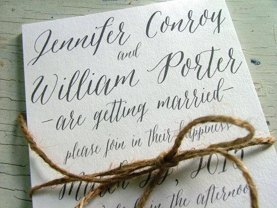 Simple Vintage Wedding Invitations: Simple Wedding Invitations, Gray Wedding Invitations
