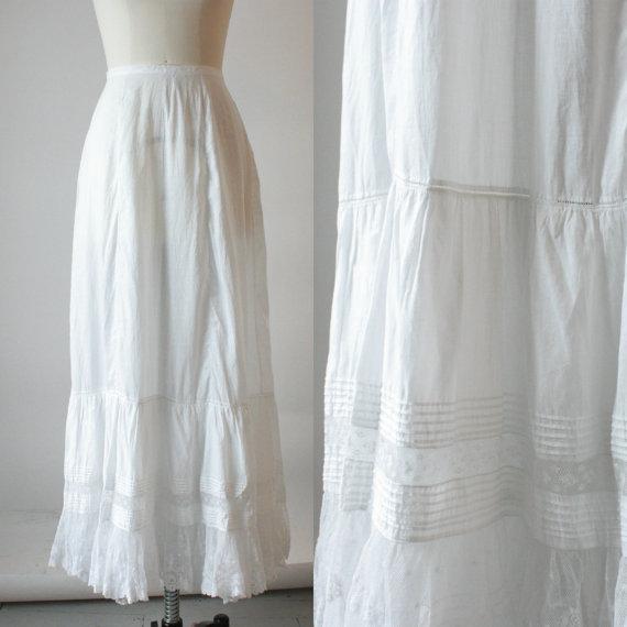 Mariage - Victorian cotton petticoat