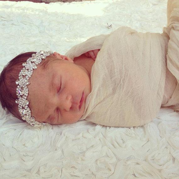 Mariage - Crystal Headband, Bridal Headband, Vintage Headband, Baby headband, crystal headband , Headpiece, Bridal headpiece