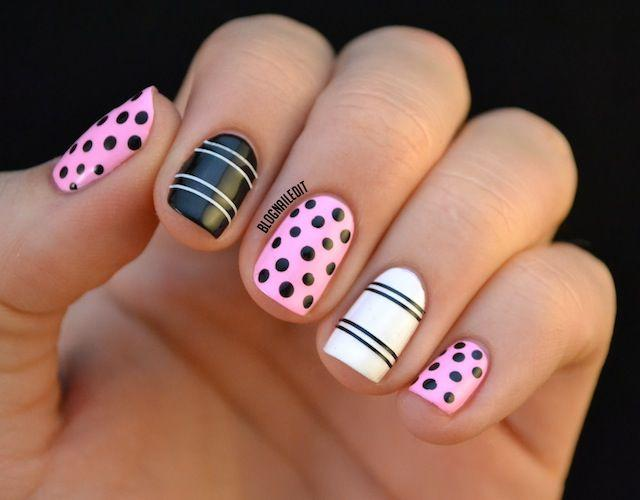 15 super cute dots and stripes nail designs 2305454 weddbook 15 super cute dots and stripes nail designs prinsesfo Images