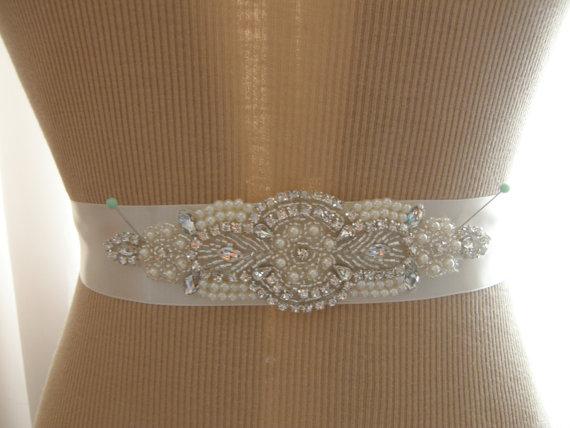 Свадьба - Wedding Belt, Bridal Belt, Bridesmaid Belt, Sash Belt, Wedding Sash, Bridal Sash, Belt, Crystal Rhinestone & Pearl