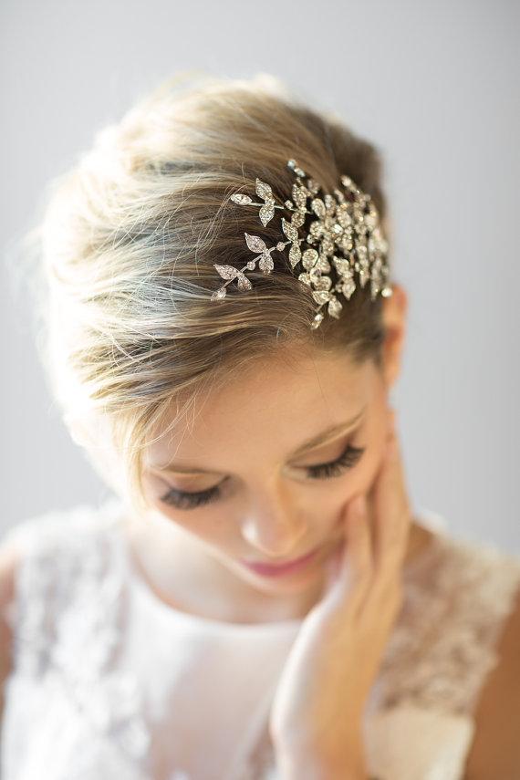 Mariage - Crystal Bridal Comb, Wedding Hair Accessory,  Bridal Hair Accessory