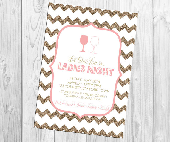 Wedding - Ladies Night Invitation