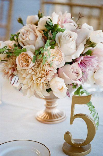 Gold Wedding Table Numbers For Weddings And Events Wedding Decor For ...