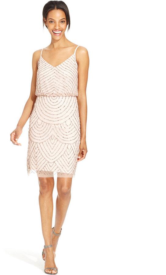 261b95f6a0 Adrianna Papell Beaded Blouson Dress  2305908 - Weddbook