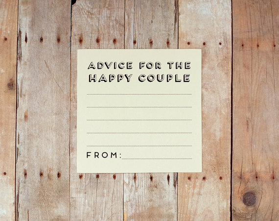 Advice For The Happy Couple