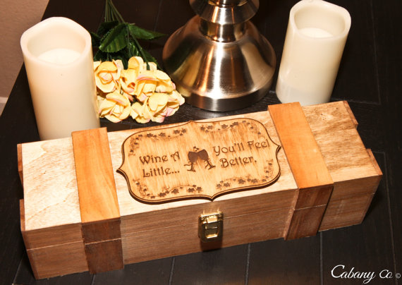 Personalized Wine Box Engraved Wedding Wine Box Couple In Love