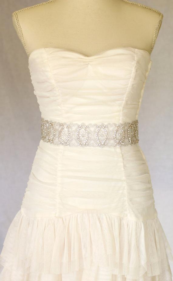Свадьба - Eden bridal sash, wedding sash, bridal belt, wedding belt, bridal accessories, rhinestone crystal sash