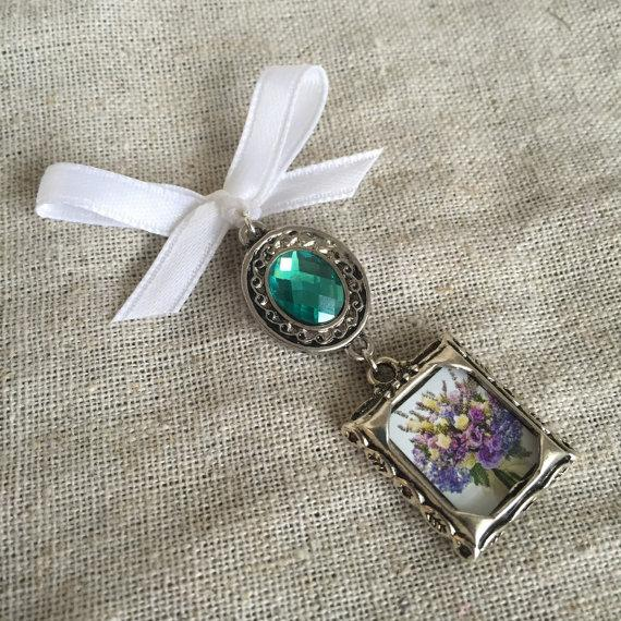 Mariage - Bouquet Charm - Colored Jewel Embellishment