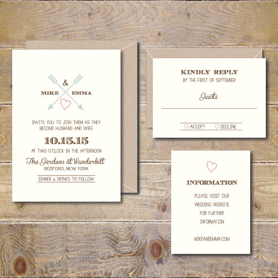 Printable Wedding Invitations Diy Wedding Invitation Wedding
