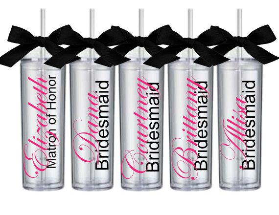 Bridesmaid tumblers personalized tumbler cups custom bridesmaid cups
