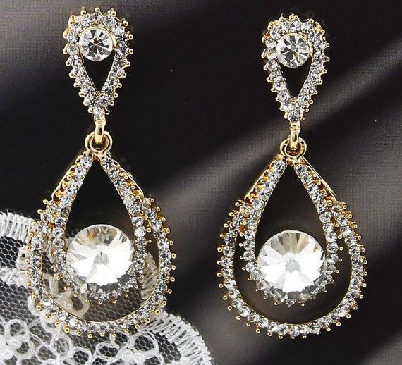 Bridal Earrings Wedding Earrings Wedding Jewelry Bridal Jewelry ...