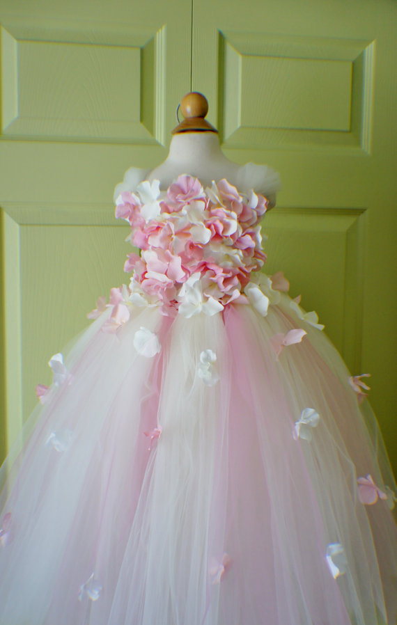 Gorgeous flower girl dress photo prop flower girl tutu dress gorgeous flower girl dress photo prop flower girl tutu dress light pink and ivory flower top tutu dress scascading flowers mightylinksfo