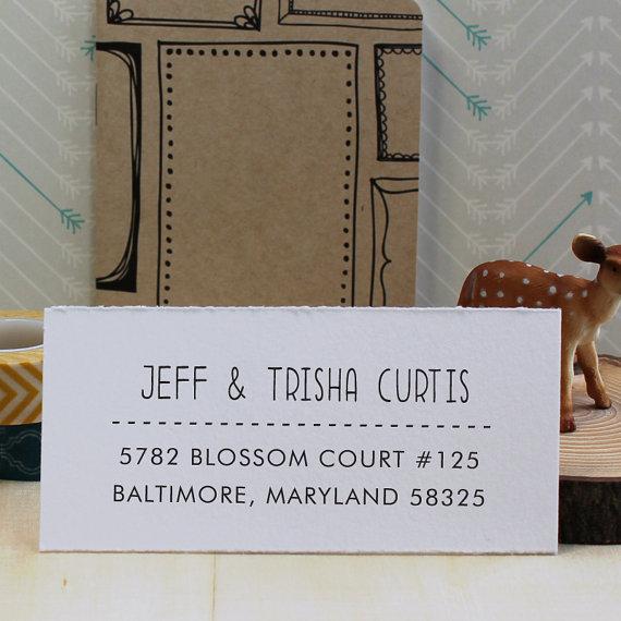زفاف - Custom Rubber Stamp - Self Inking Address Stamp - Curtis