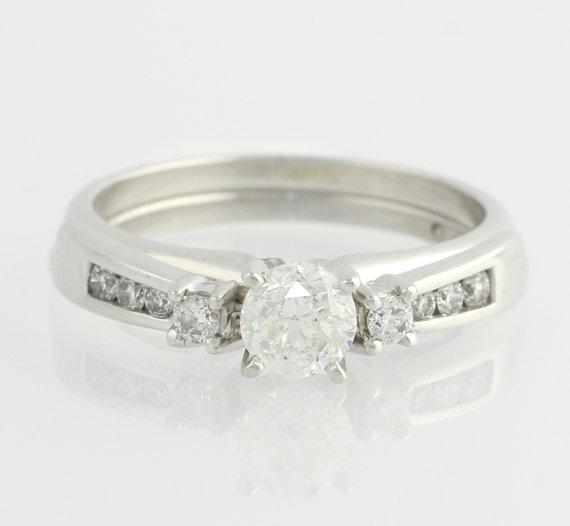engagement ring wedding band set 80ctw