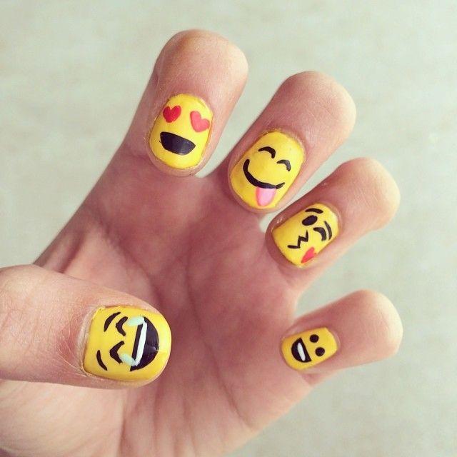 زفاف - Wear Your Emotions On Your Hands With Emoji Nail Art