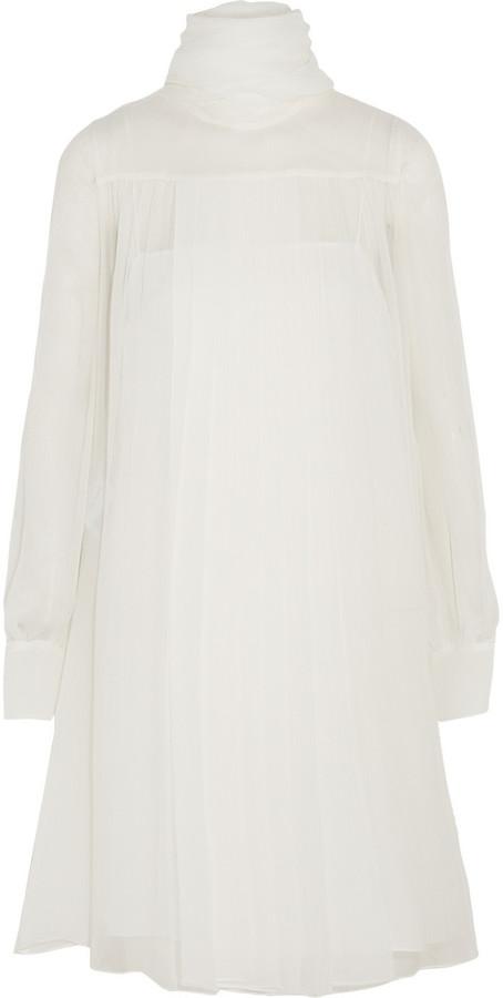 Hochzeit - Miu Miu Pleated draped chiffon dress