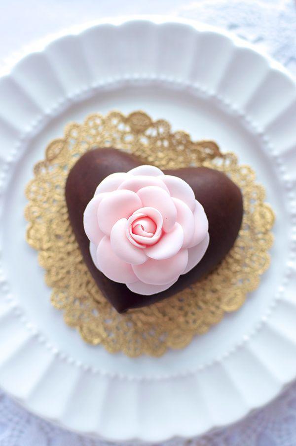 Wedding - Dark Chocolate Mousse Hearts