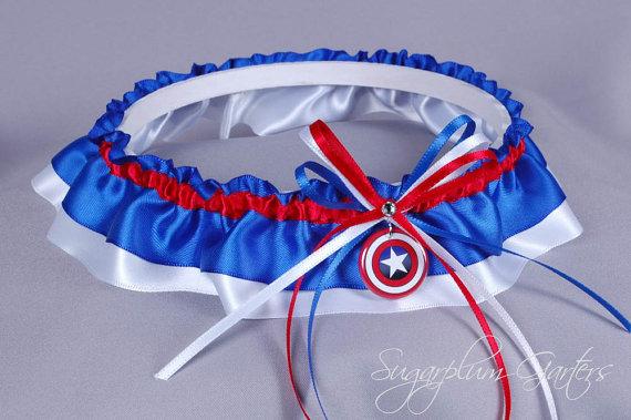 Hochzeit - Captain America Wedding Garter