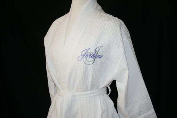 Свадьба - PERSONALIZED Waffle Weave Spa Robes Come in 9 Colors and Available for Immediate Shipment; Wedding and Rush Orders Welcome