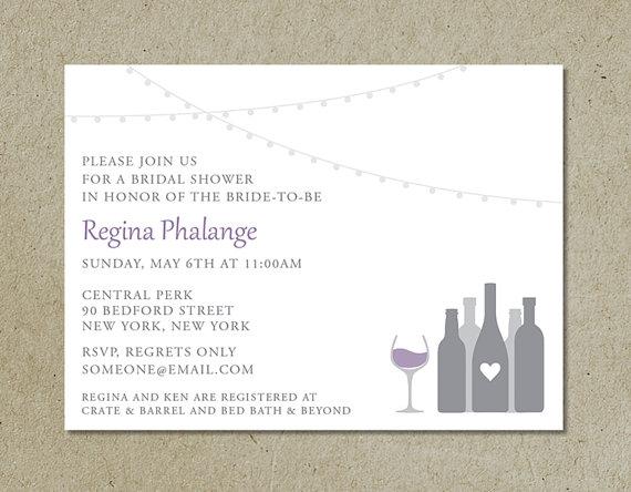 زفاف - modern bridal shower invitation / wine bar or winery