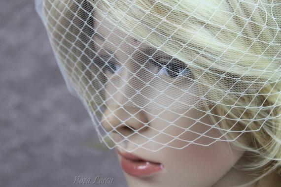 Hochzeit - Double Birdcage Veil, Cage Veil, Bird Cage Veil, White Wedding Veil, Birdcage Bridal Veil, Wedding Accessories
