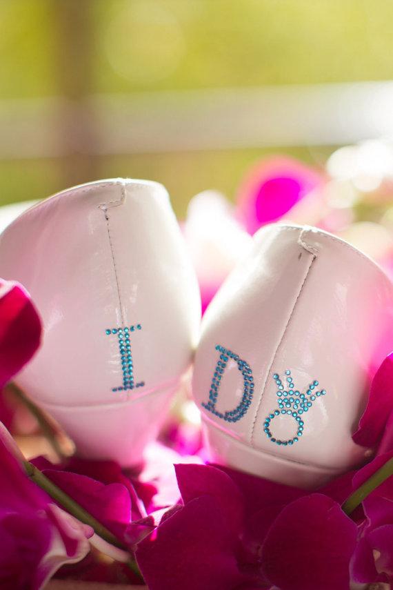 Mariage - I Do Shoe Stickers - DIAMOND RING I Do Wedding Shoe Stickers - I Do Shoe Appliques - Rhinestone I Do Shoe Decals for your Bridal Shoes