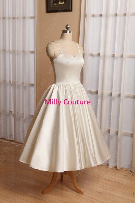 Rockabilly Wedding Dress, Simple Wedding Dress Short, Vintage ...