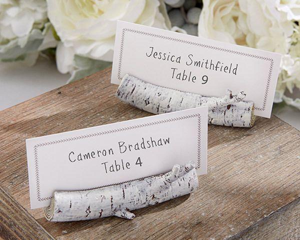 Wedding - White Birch Place Card Holder Wedding Favor (Set Of 6)