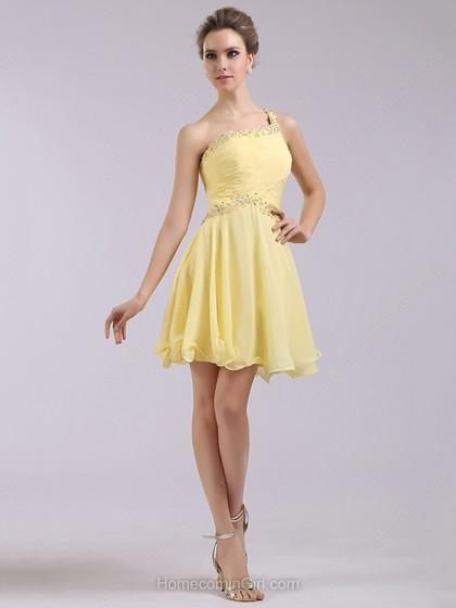 Yellow Homecoming Dresses 66