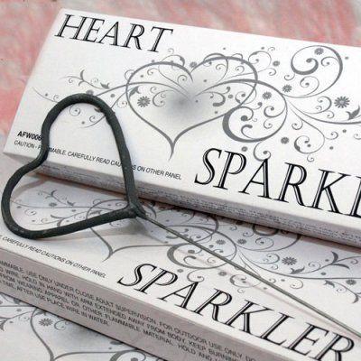 Hochzeit - Heart Shaped Wedding Sparklers
