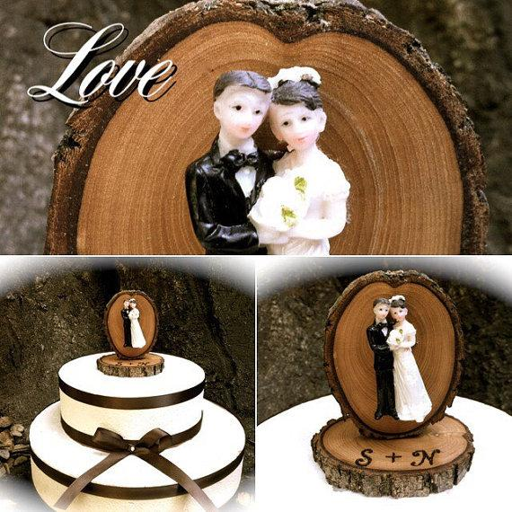 Rustic Wedding Cake Topper Vintage Bride Groom Wooden Toppers Country Fall Weddings 2307360