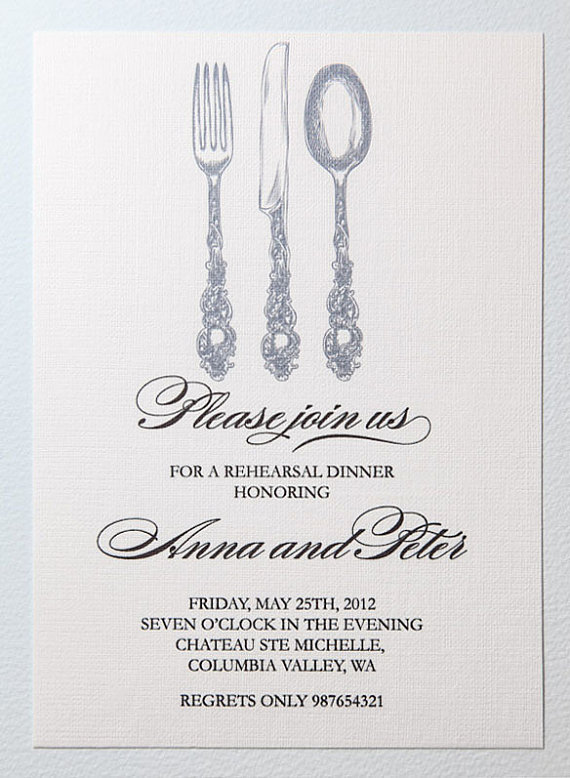 Mariage - Printable rehearsal dinner invitation