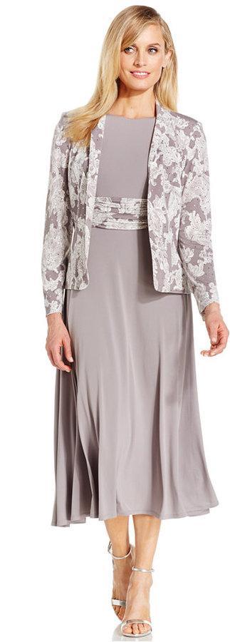 Jessica Howard Foil-Print Dress And Jacket Set #2307682 - Weddbook