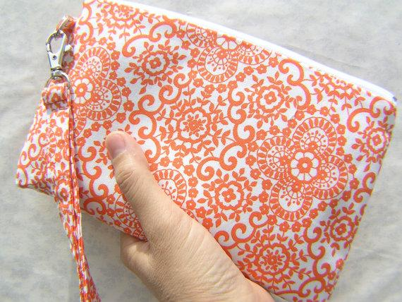 Düğün - WEDDING CLUTCH gift pouch 2 pockets bridesmaid clutch gift for her flower girl - Sally