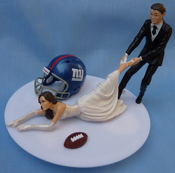 New York Giants Wedding Cake Topper
